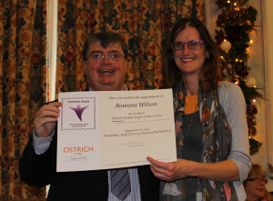 Purple Angel ambassador with Norm